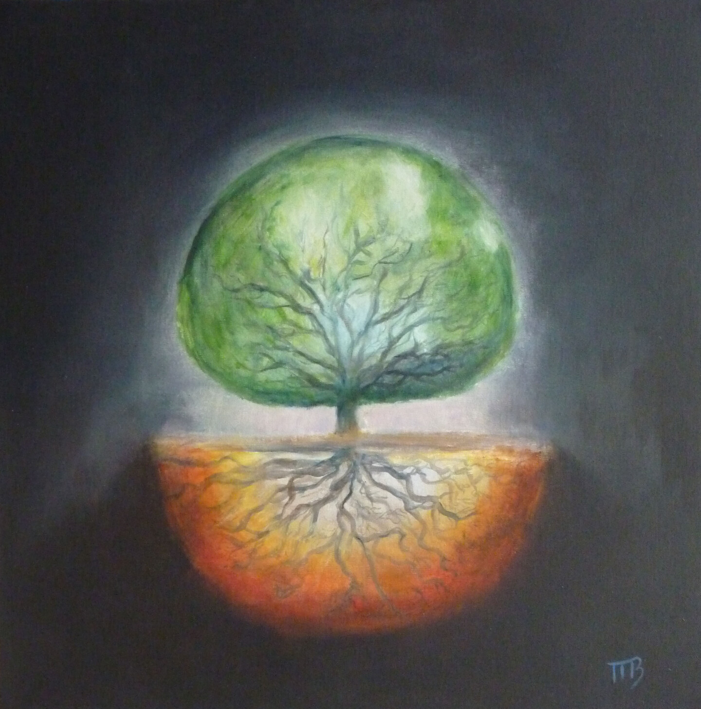 Magali Batté Gauthier (M B) - A drop of appletree in space