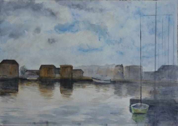 M B - Dieppe, l'avant-port vue sur le Pollet