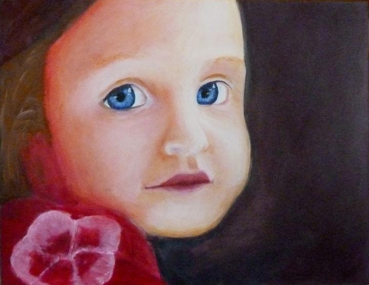 M B - Adélie à l'écharpe fleurie